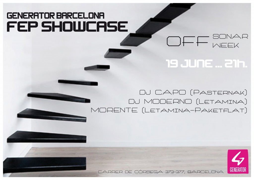 CARTEL GENERATOR BARCELONA FEP SHOWCASE