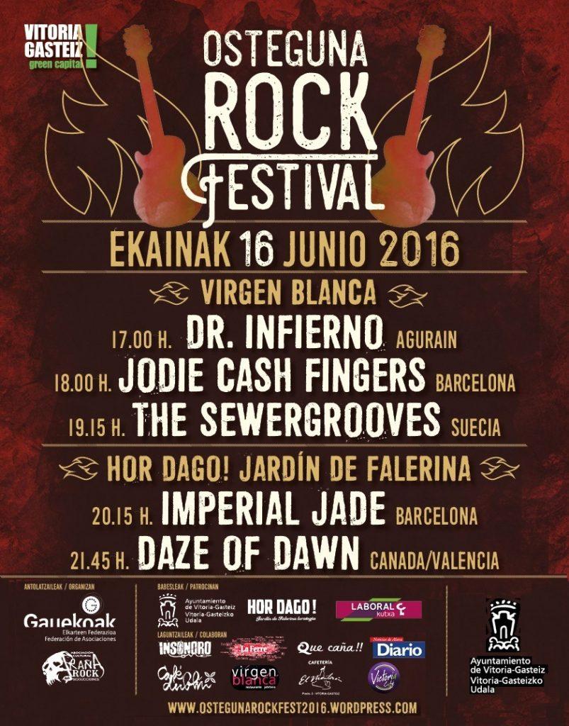 CARTEL OSTEGUNA ROCK 2016