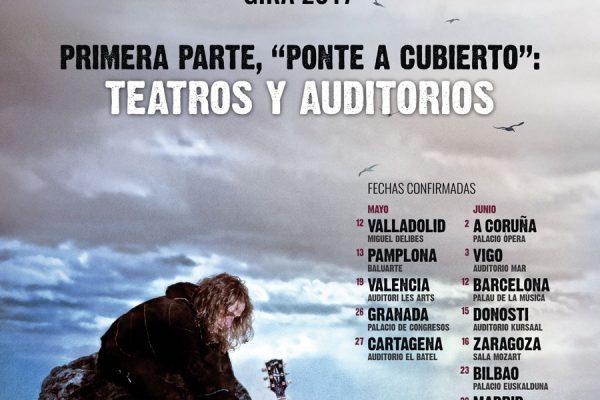 Ponte A Cubierto, Gira Por Teatros Y Auditorios De Robe: Entradas Ya A La Venta En Robe.es