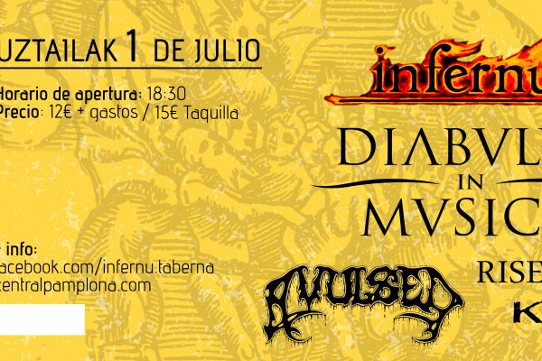 Próxima Edición Del INFERNU FEST, Festival De Música Organizado Por Infernu Taberna