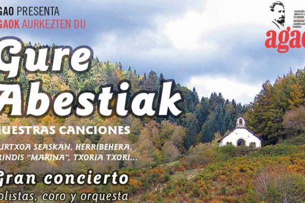 """La Asociación Gayarre Amigos De La Ópera (AGAO), Presenta: """"GURE ABESTIAK"""""""